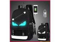 Рюкзак школьный непромокаемый. (цвет черный, со светоотражателем глаза)
