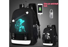 Рюкзак школьный непромокаемый. (цвет черный. со светоотражателем человек в шляпе)