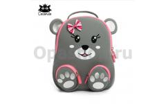 """Детский водостойкий 3D рюкзак с ортопедической спинкой. """"Мишка с бантиком"""""""