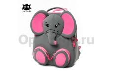 """Детский водостойкий 3D рюкзак с ортопедической спинкой. """"Счастливый слоник"""""""