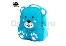"""Детский водостойкий 3D рюкзак с ортопедической спинкой. """"Тигренок"""" голубого цвета"""