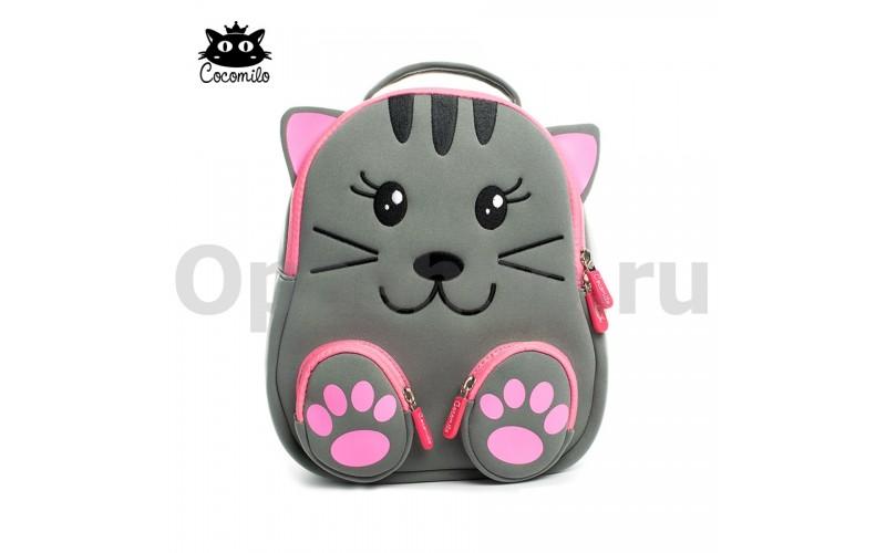"""Детский водостойкий 3D рюкзак с ортопедической спинкой. """"Котик"""""""