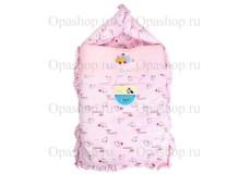 Спальный мешок-кокон в виде конверта для новорожденных. (весна-осень)
