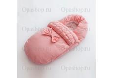 Конверт теплый, водонепроницаемый для девочки. (розовый)