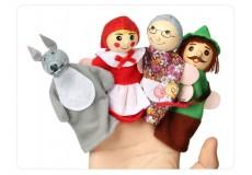 Пальчиковые куклы - Красная шапочка (набор из 4 шт.)