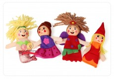 Пальчиковые куклы - Русалка. (набор из 4 шт.)