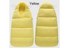 Мешок-конверт зимний для новорожденных. ( цвет: Желтый-лимон )