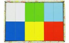 Набор «Кирпичи» деревянный окрашенный, 12 шт. в наборе, 6 цветов