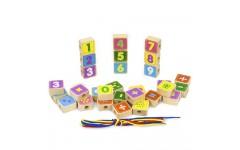 Деревянный конструктор «Шнуровочка»  с цифрами