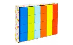 Набор «Кубики» деревянный окрашенный, 24 шт. в наборе, 6 цветов