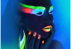 Светящаяся неоновая акриловая краска для лица и тела (20 гр.)